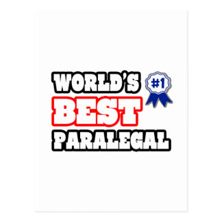 World's Best Paralegal Postcard