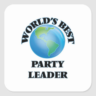 World's Best Party Leader Square Stickers