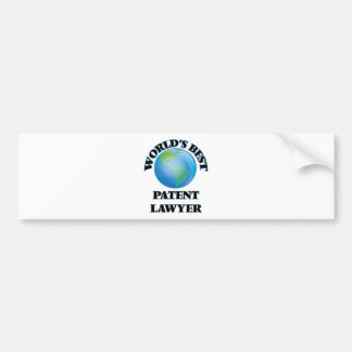 World's Best Patent Lawyer Bumper Stickers