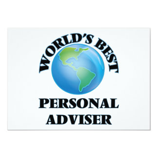 World's Best Personal Adviser Card