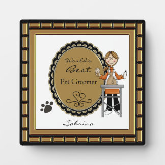 World's Best Pet Groomer Female Plaque