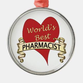 World's Best Pharmacist Christmas Ornament