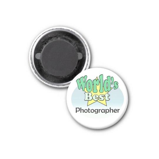 World's best Photographer 3 Cm Round Magnet