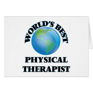World's Best Physical Therapist Cards