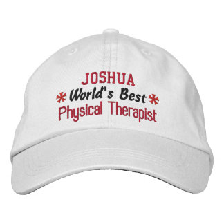 World's Best PHYSICAL THERAPIST Custom Name V01 Embroidered Hat