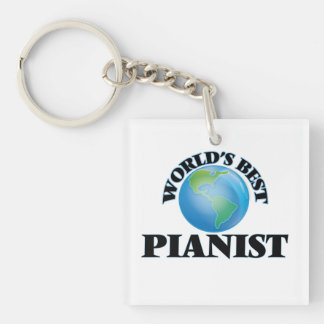 World's Best Pianist Square Acrylic Key Chains