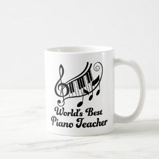 Worlds Best Piano Teacher Basic White Mug