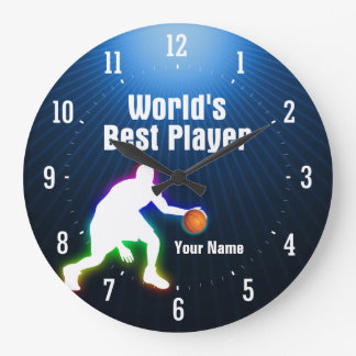 World's Best Player |  Basketball Large Clock