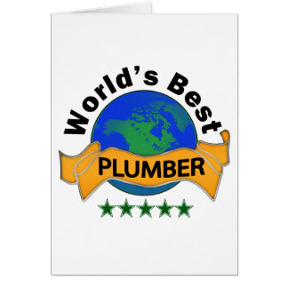 World's Best Plumber Card