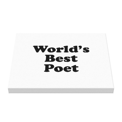 World's Best Poet Gallery Wrapped Canvas