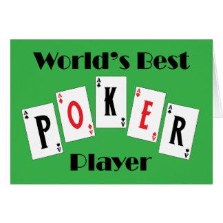 Worlds Best Poker Player Card