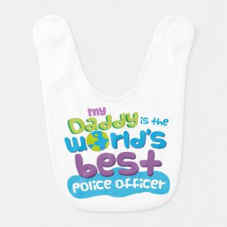 Worlds Best Police Officer Dad infant bib
