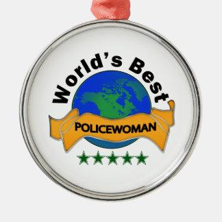 World's Best Policewoman Christmas Ornament