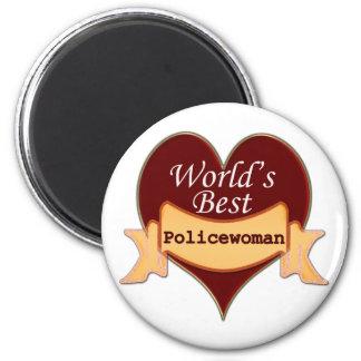 World's Best Policewoman Magnet