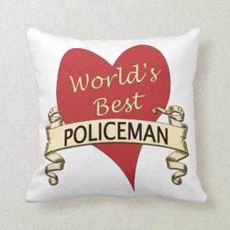 World's Best Polieman Cushion