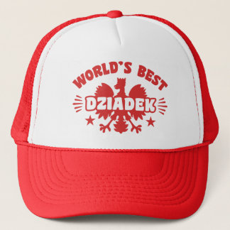World's Best Polish Dziadek Trucker Hat