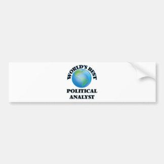 World's Best Political Analyst Bumper Sticker