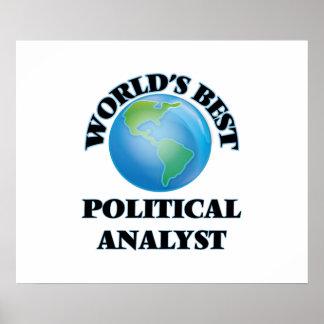 World's Best Political Analyst Poster