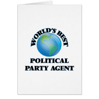 World's Best Political Party Agent Card