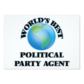World's Best Political Party Agent Cards