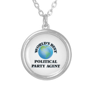 World's Best Political Party Agent Personalized Necklace