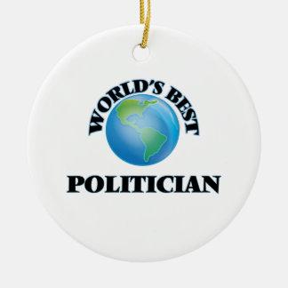 World's Best Politician Christmas Ornaments
