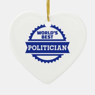 World's best Politician Christmas Tree Ornaments