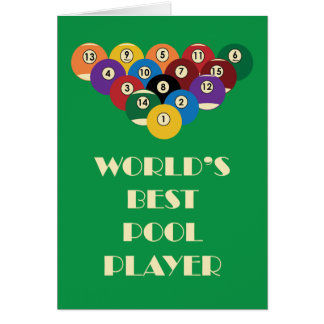 World's Best Pool Player Greeting Card
