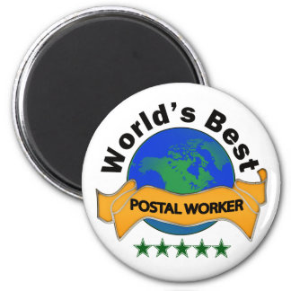 World's Best Postal Worker 6 Cm Round Magnet