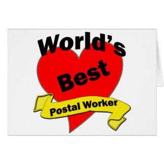 World's Best Postal Worker Greeting Card