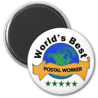 World's Best Postal Worker Magnet