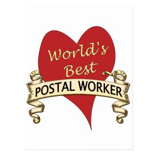 World's Best Postal Worker Postcard