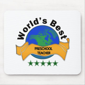 World's Best Preschool Teacher Mousepad