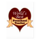 World's Best Preschool Teacher Postcards