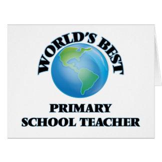 World's Best Primary School Teacher Cards