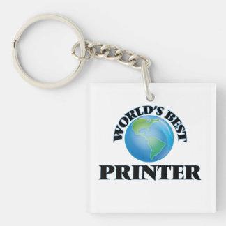 World's Best Printer Square Acrylic Keychain