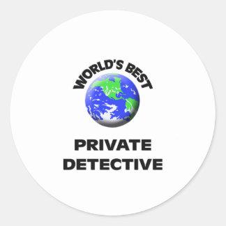 World's Best Private Detective Round Sticker
