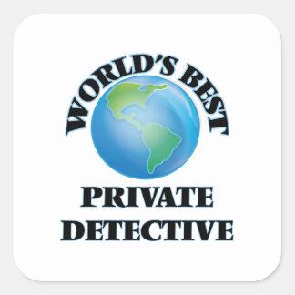 World's Best Private Detective Square Sticker