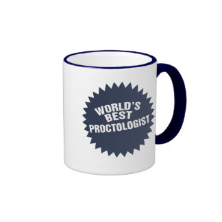 World's Best Proctologist Ringer Coffee Mug