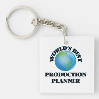 World's Best Production Planner Square Acrylic Key Chains