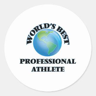 World's Best Professional Athlete Round Stickers
