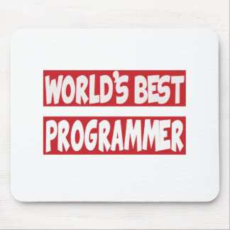 World's Best Programmer. Mouse Pads