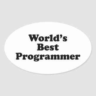 World's Best Programmer Oval Stickers