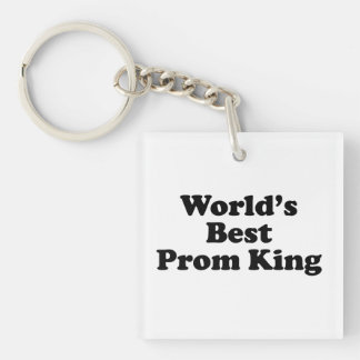 World's Best Prom King Single-Sided Square Acrylic Key Ring