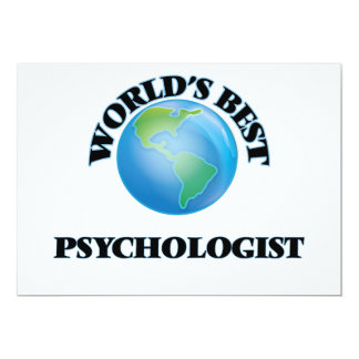 World's Best Psychologist 5x7 Paper Invitation Card
