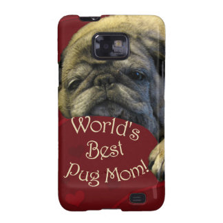 World's Best Pug Mom Samsung Galaxy S2 Case
