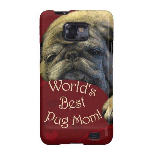 World's Best Pug Mom Samsung Galaxy S2 Case