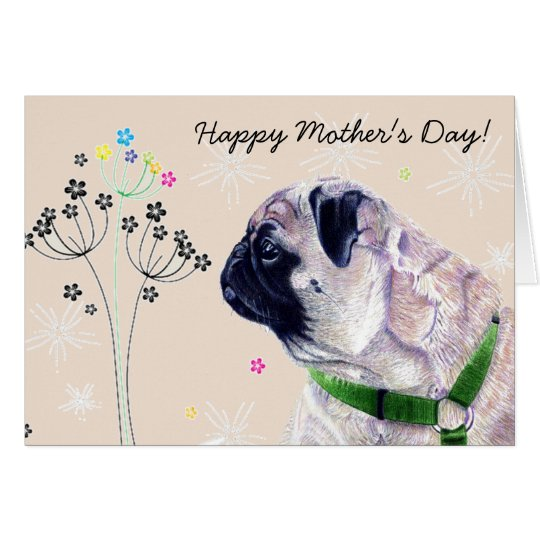 World's Best Pug Mummy! Mother's Day Card