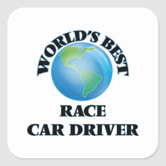 World's Best Race Car Driver Square Sticker