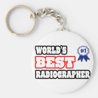 World's Best Radiographer Basic Round Button Key Ring